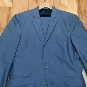 ZARA Man Light Blue Suit.